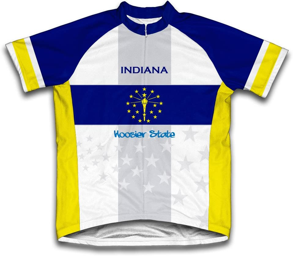 ScudoPro Indiana Flag Short Sleeve Jersey for Men Super popular specialty store Cycling San Francisco Mall