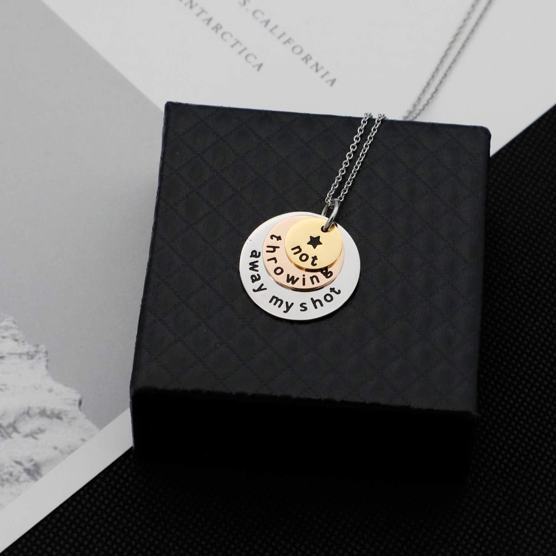 Necklaces Fashion Hamilton Necklace Hamilton Lyrics Gift Hamilton ...