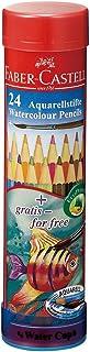 ファーバーカステル 水彩色鉛筆 丸缶 24色セット TFC-115924