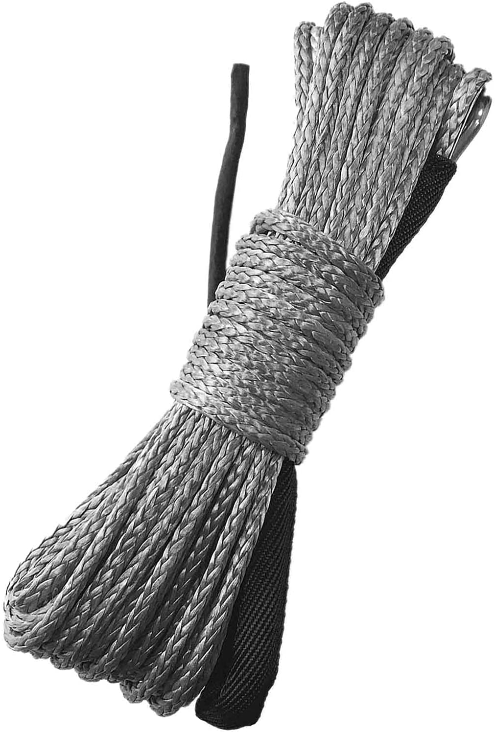 Synthetic Winch Rope National uniform free shipping 1 4 Inch x Black with 7700LBs Proteci 50 ft Super special price