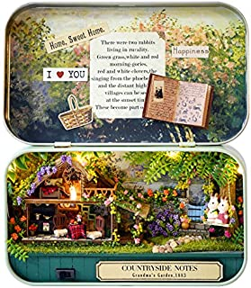 Youku DIY Wooden Dollhouse Miniature Kit Wood Hut Toy & Color Light with Furniture Show Pictures