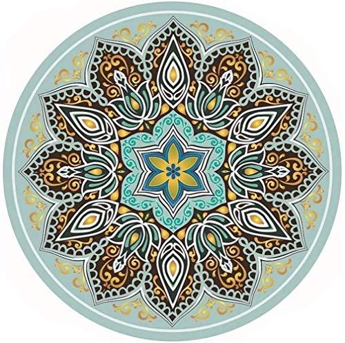 hsj LF- Esterilla de yoga redonda redonda de goma natural sin olor y lana de ciervo profesional, tapete de meditación antideslizante (color: 4, tamaño: 140 cm)