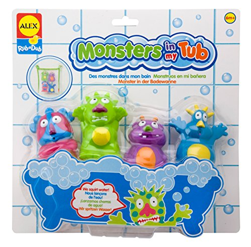 Monsters in my Tub bath toys