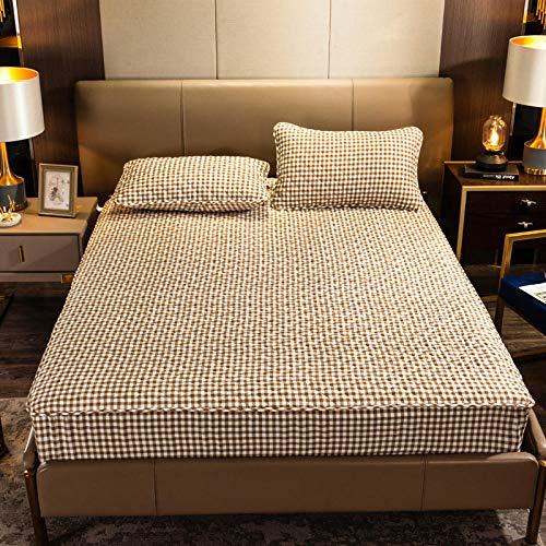CYYyang Protector de colchón de bambú Funda de colchón y Ajustable Una Sola Pieza de sábana Gruesa-8_150 * 200cm