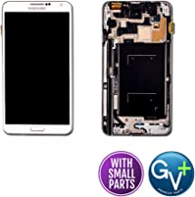 Group Vertical Replacement Touch Screen Digitizer LCD Glass Assembly Frame Compatible with Samsung Galaxy Note 3 SM-N900V (White)