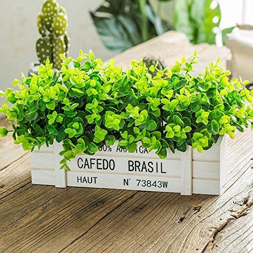 Jnseaol Fleurs Artificielles Arrangement Floral Bonsaï Pot en Bois Décoration pour Maison, Jardin, Cuisine, Mariage Et Magasin pour Amie Saint Valentin, Fête des Mères Plante Verte