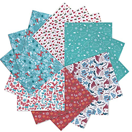 Opret Origami Paper 50 Sheets 6x6 inch / 15x15 cm Christmas Patterned Origami Paper 6 Designs Single Sided for Kids Gifts Arts and Crafts Project