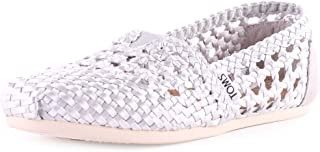 TOMS Women's Classic Silver Satin Casual Shoe 7 Women US