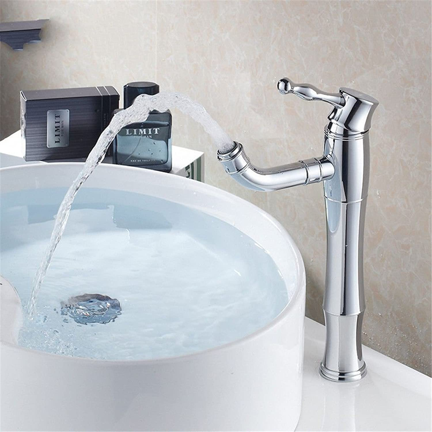 ETERNAL QUALITY Bathroom Sink Basin Tap Brass Mixer Tap Washroom Mixer Faucet Basin high single hole faucet mixing of hot and cold water basin-wide water faucet brass tap
