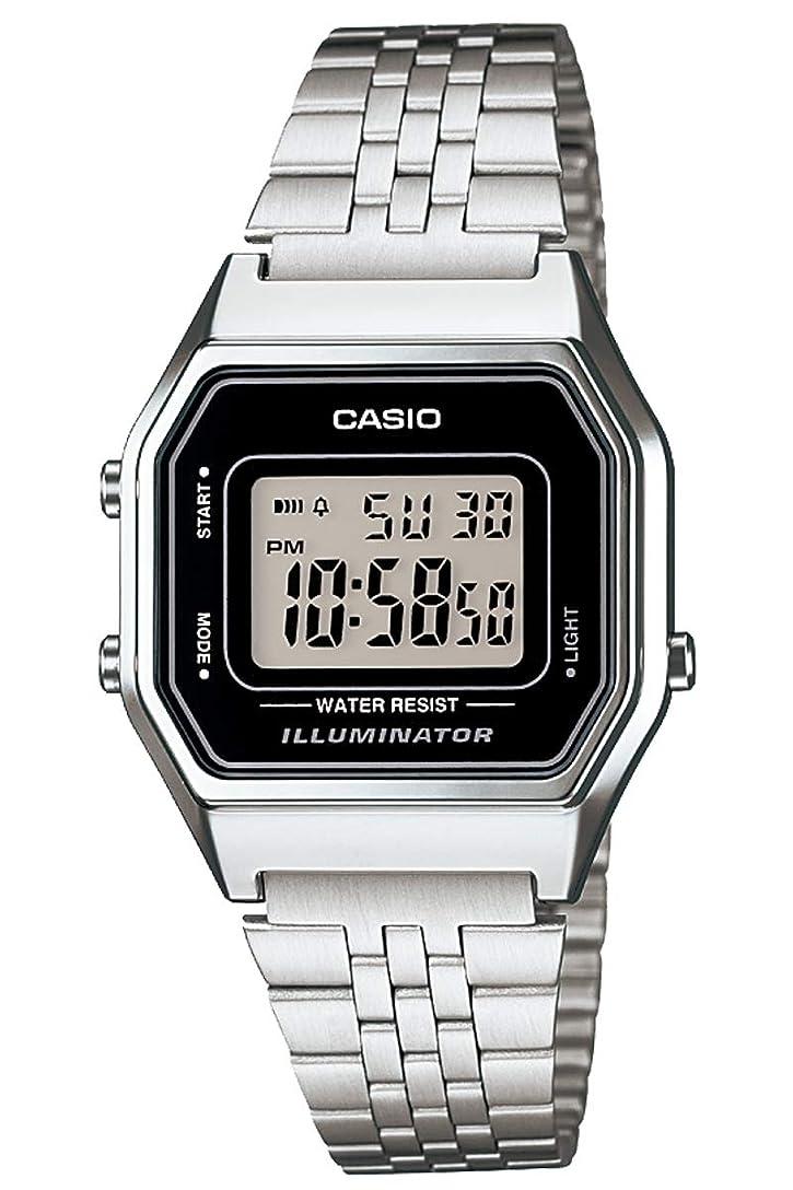 内向きスペイン語後ろ、背後、背面(部[カシオ] 腕時計 スタンダード LA680WA-1JF レディース シルバー