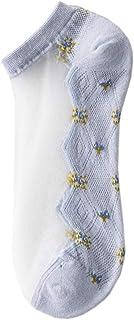 Calcetines Transparentes Para Mujer Calcetines Tobilleros Elásticos Suaves y Ultrafinos Atractivos - 5 pares
