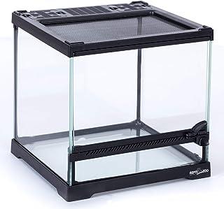 REPTIZOO Mini Reptile Glass Terrarium,Front Opening Door Full View Visually Appealing Mini Reptile or Amphibians Glass Hab...