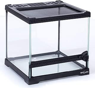 REPTI ZOO Mini Reptile Glass Terrarium,Front Opening Door Full View Visually Appealing Mini Reptile or Amphibians Glass Habitat