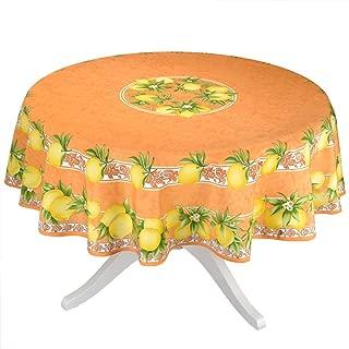 Citrus Orange French Provencal Tablecloth - 70