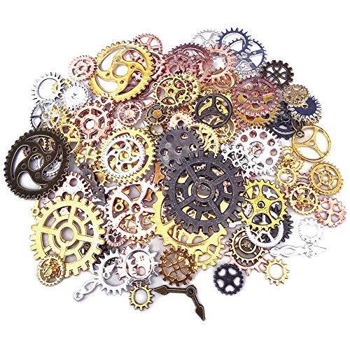200 Gram Antique Metal Steampunk Gears Charms DIY Pendant Clock Watch Wheel Gear Cog for Jewelry Making