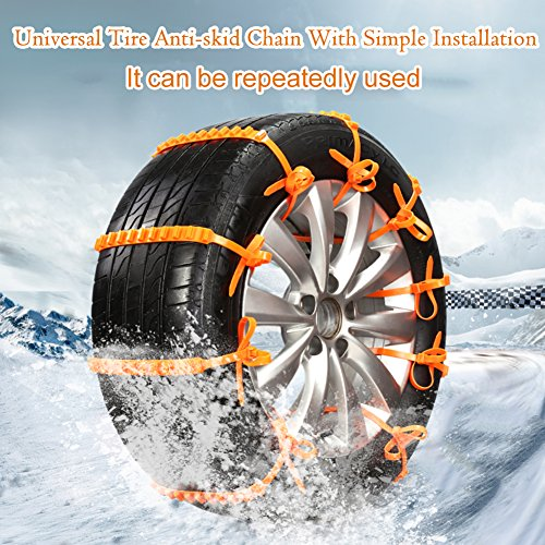 Pneu de voiture antidérapante Chaîne SUV d'urgence Pneu antidérapant Chaîne pour conduite de Winter Snow Road