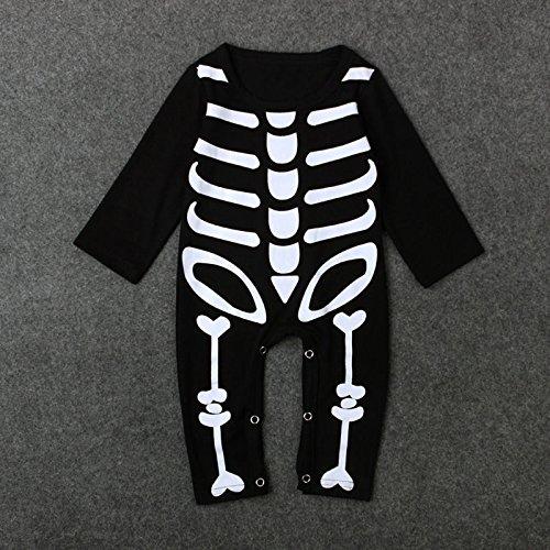 Zooarts Disfraz para bebés con diseño de esqueleto, de 0 a 24 meses, de la marca , negro, 80 (6-12 Meses)