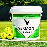 Vermont Pelotas de Tenis   Pelotas Homologadas por la ITF para Minitenis/Entrenamientos (para Todas Superficies) (Nivel 1 (Verde), Pack de 3)