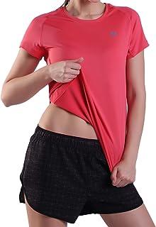 Performance Sportwear Suit Womens Yoga Tops Short Sleeve Tee Shirts Ladies Fitniess Stretch Shorts Single or Set Packs