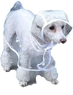 Chubasquero impermeable para perro, ligero y transparente, de Cosanter