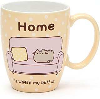 """Pusheen by Our Name is Mud """"Pusheen at Home"""" Stoneware Coffee Mug, 12 oz."""