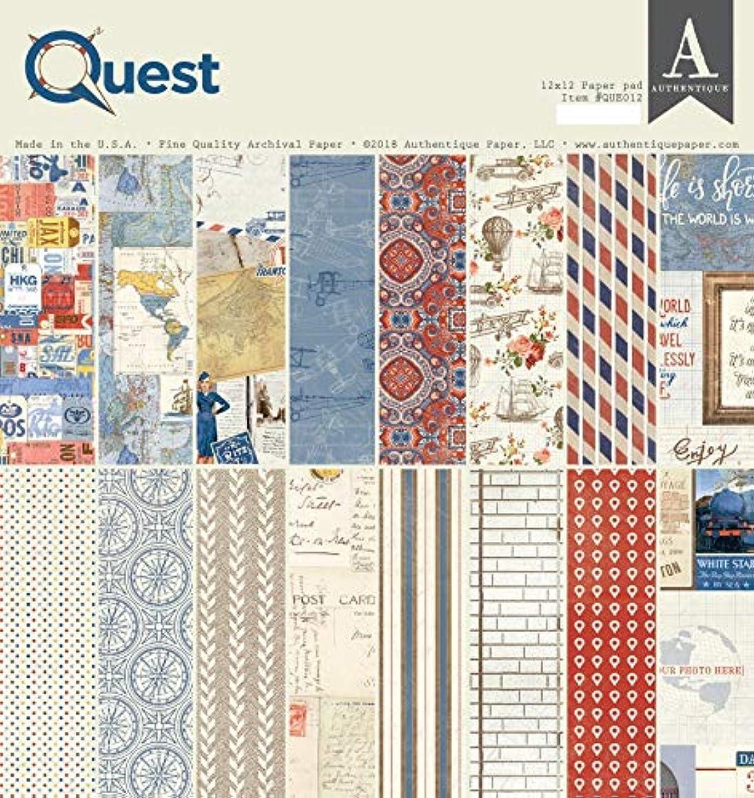 Authentique Paper QUE012 Authentique Double-Sided Cardstock Pad 12