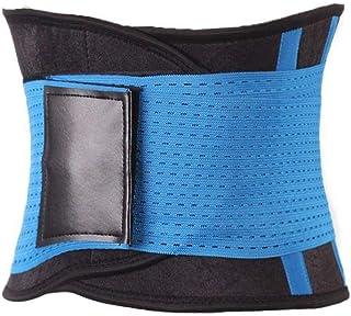 Waist Trainer Adjustable Belt - Slimming Body Shaper - Sports Belt Girdle - BLUE - Large