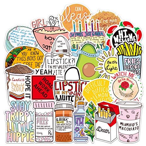 DSSJ Adhesivo para maleta, diseño de chica fresca, caja de palanca, maleta, personalidad, marea, pegatina para ordenador, impermeable, de papel adhesivo