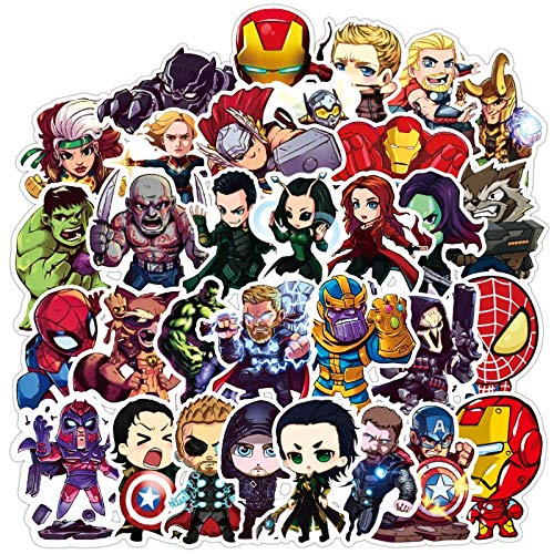 Super Hero Stickers Marvel Sticker Skateboard Motorfiets Bagage Stickers Voor Laptop Waterdichte Superhero Sticker 100 stks