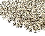 Juego de 1100 cuentas de cristal de 4 mm, 6/0, perlas de pony, transparentes, pequeñas cuentas para niños, cuentas de...