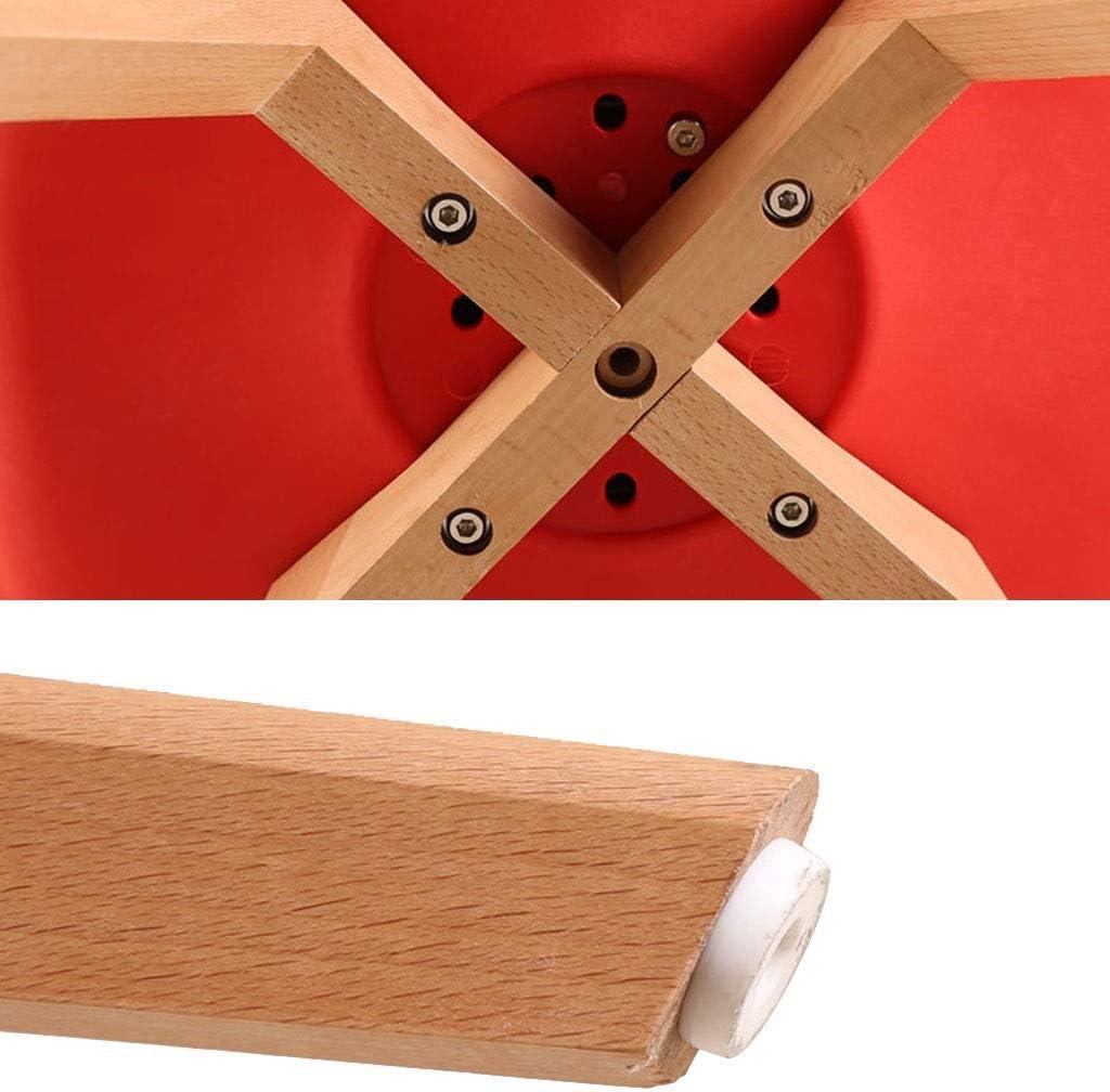 LSRRYD Chaise De Cuisine Salle À Manger Design Scandinave Rembourrée Assise en PU Pieds en Bois De Hêtre Massif (Couleur : Gray) Rouge