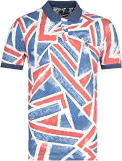 Union Jack Print Polo Shirt
