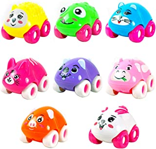 Sanwooden Toy Gift Magnetic Car Toy 1Pc Colorful Magnetic Mini Cartoon Animal Car Intelligence Kids Toy Home Decor Toys fo...
