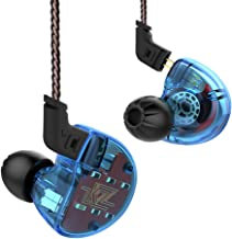 IEM Earbuds, KZ ZS10 HiFi In-Ear Headphones In Ear Monitors Earphones with Five Drivers without Microphone (Blue)