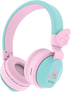 Riwbox BT05 Bluetooth Kids Headphones Wireless Foldable Headset Over Ear with Volume Limited and Mic/TF Card Compatible fo...
