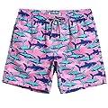 MaaMgic Mens Boys Short Funny Shark Swim Trunks Slim Fit Swim Shorts Swimsuit for Men Mens Bathing Suits