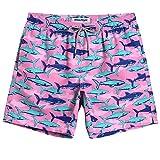 MaaMgic Mens Boys Short Funny Shark Swim Trunks Slim Fit Swim...