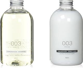 【分配器套装】 TAMANOHADA Tamanohada 洗发水和护发素 003 玫瑰 540ml