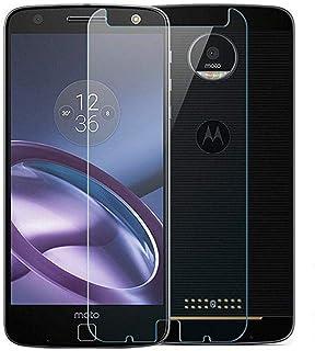 حامي شاشة بقوة حماية زجاجية مقاوم للكسر لجهاز موتورلا موتو زد - شفاف - Moto Z