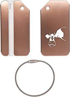 cow luggage tag