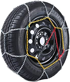 Chaussette neige textile pneu 185//80R17 excellente protection de la jante Valise comprenant 2 chaines textile et 1 paire de gants