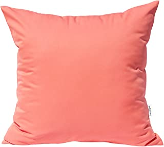 TangDepot Durable Faux Silk Solid Pillow Shams, Euro Shams, European Throw Pillow Covers, Indoor/Outdoor Cushion Covers - (26