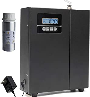 Kevinleo Air Scent Machine 100ml Free oil,3 years Warranty,Waterless,Flexible Timer Setting,HVAC,860-1,100 sq.ft,Powerful Mist,Cover 860-1,100 sq.ft. Area,7''(L)x2.5''(W)X9''(H),12V US,Aroma Diffuser
