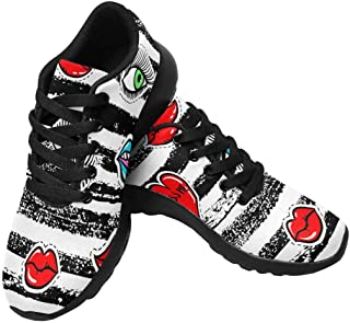 HANMAX Kids Tennis Running Shoes Lightweight Breathable Athletic Sneaker