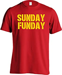 KC Kansas City Sunday Funday Football Red T-Shirt - Men's