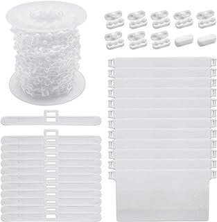 SelfTek - Persianas verticales (12 unidades, 89 mm, 12 piezas, listones de peso inferior y 100 eslabones de cadena inferior con 10 conectores de cadena)
