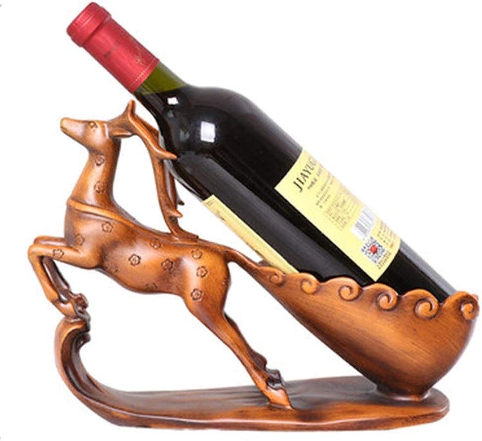 entrega de rayos Botelleros Botelleros Botelleros Estante para Vinos Sika Deer Decoración para Estante De Vino American Model Room Cabina para Vinos Deer Bottle Rack Sala De Estar Dormitorio Decoración (Color   C, Talla   30.5  22  10cm)  autentico en linea