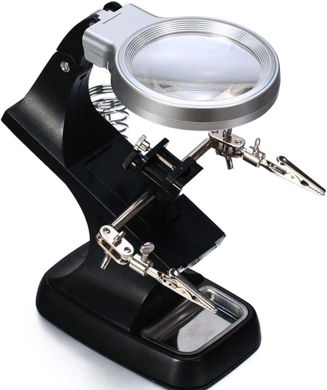 DDOQ LED-Licht helfende Handlupenstation 3X 4.5X beleuchteter, freihändiger Lupenständer mit mit mit Klemme und Krokodilklemmen - zum Löten, Montieren, Reparieren, Modellieren, Hobby und Basteln B07Q2PKCCS | Modisch  f80cd4