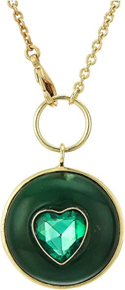 12K Soft Polish Gold/Green Aventurine/Emerald