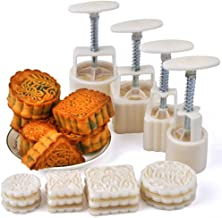 VOVOV Mid-Autumn Festival Hand-Pressure Moon Cake Mould with 12 Pcs Mode Pattern for 4 Sets